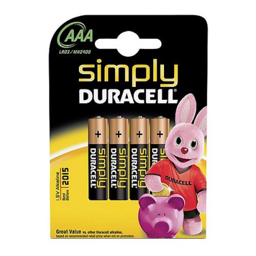 Simply Duracell AAA Alkaline Batteries (4 Pcs)