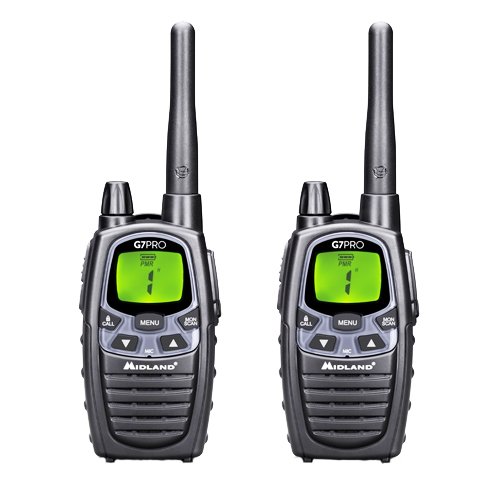 Midland G7 Pro PMR446 Twin Pack Transceivers