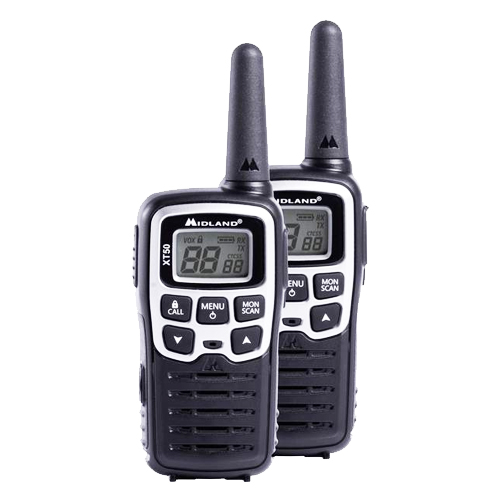 Midland XT50 PMR446 Twin Pack Transceivers