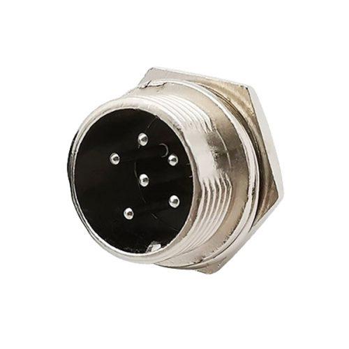 NC-519 6 Pin Chassis Socket (5 Pcs)