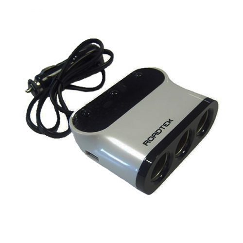 Roadtek YKB16 3-Way Power Socket and 2 x USB Adaptor