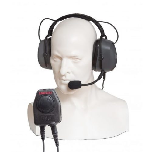 Entel CHP950D Double Ear-cup Ear Defender with Large PTT / Comfort Headband