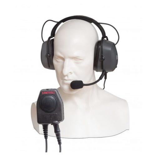 Entel CHPD/DT9 Double Ear-cup Ear Defender Headset with Comfort Headband, c/w PTT-E/DT9