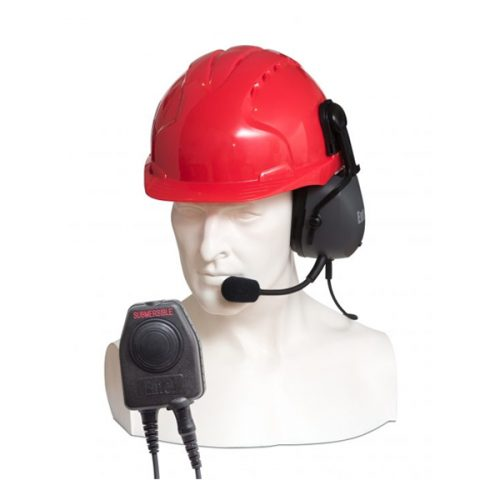 Entel CHPHS/DT9 Single Ear-cup Ear Defender Headset with Hardhat Fixings, c/w PTT-E/DT9