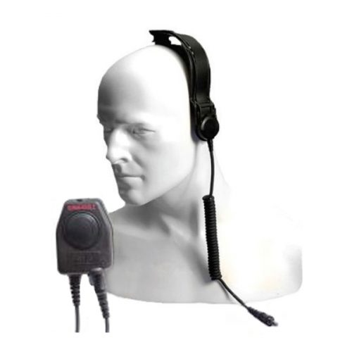Entel CXR5/750 Bone Conductive Skull Microphone with Large In-Line PTT